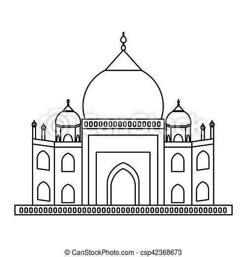 Taj mahal architecture - csp42368673