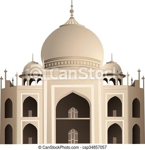 Taj Mahal - csp34857057