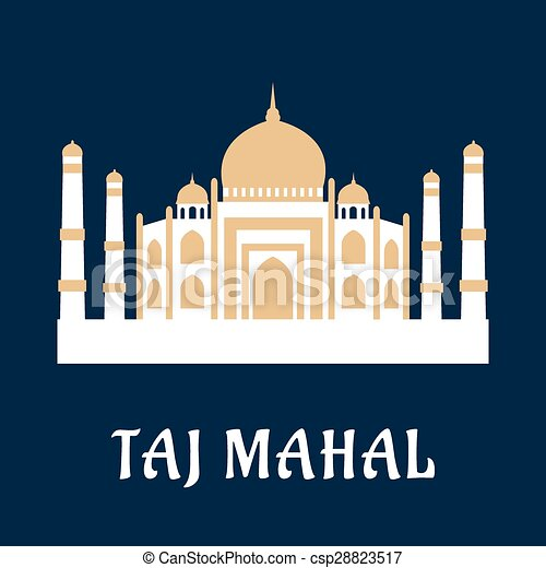 Taj Mahal famous Indian landmark - csp28823517