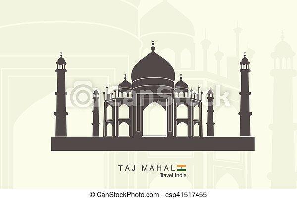 Taj Mahal in India - csp41517455