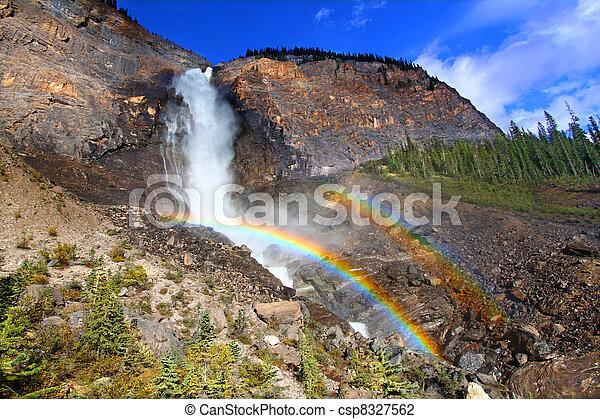 Takakkaw Falls Rainbow in Canada - csp8327562