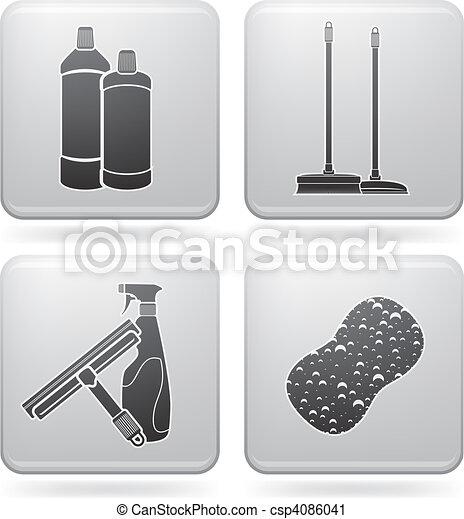 takarítás, eszköz - csp4086041