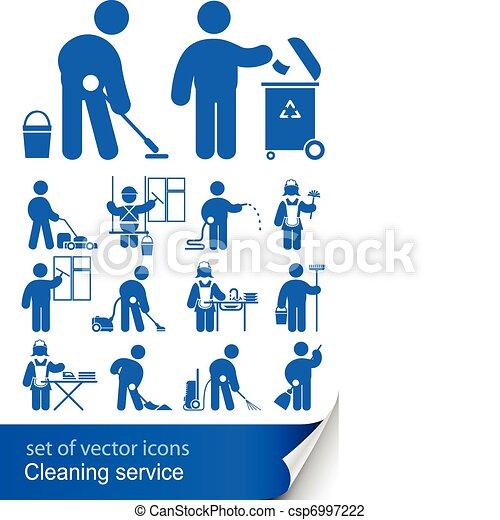 takarítás, szolgáltatás, ikon - csp6997222