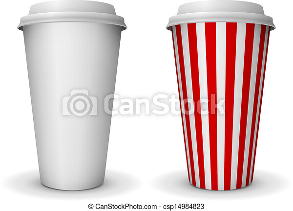 take away fast food coffee paper cup vector template