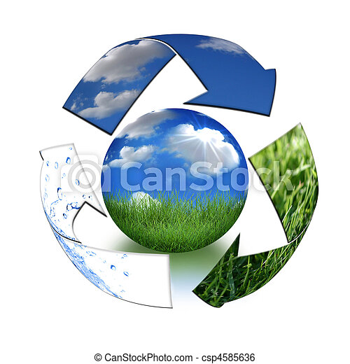 Take Care of Mother Earth Concept - csp4585636