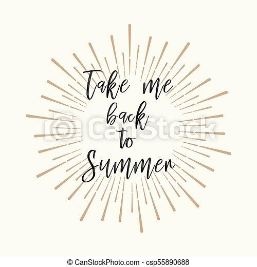 Take Me Back To Summer Gold Glitter Background Inspirational
