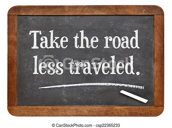 take the road less traveled - csp22365233