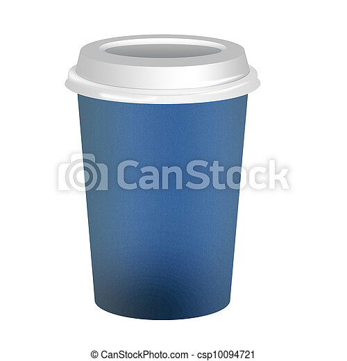 Takeaway coffee cup over white background - csp10094721