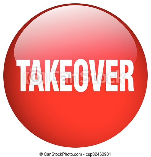 takeover red round gel isolated push button - csp32460901