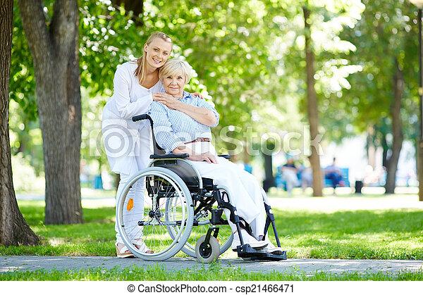 Taking care of patient - csp21466471