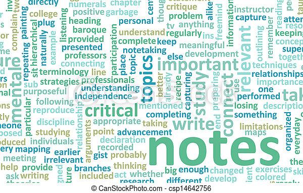 Taking Notes - csp14642756