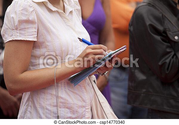 taking notes - csp14770340