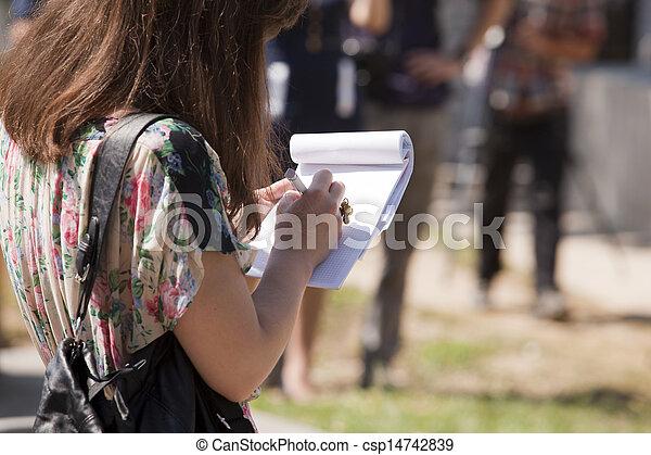 taking notes - csp14742839