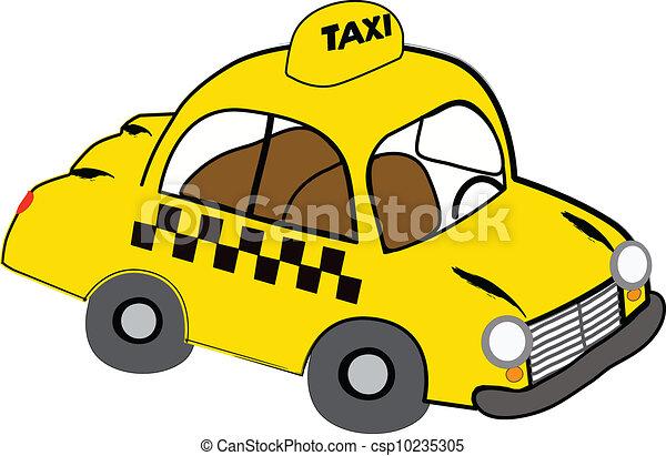 taksówka, żółty - csp10235305