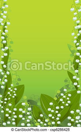Hintergründe Lily des Tals - csp6286428
