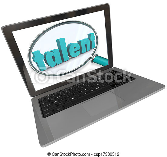 Talent Laptop Screen Online Search Skilled Unique People - csp17380512
