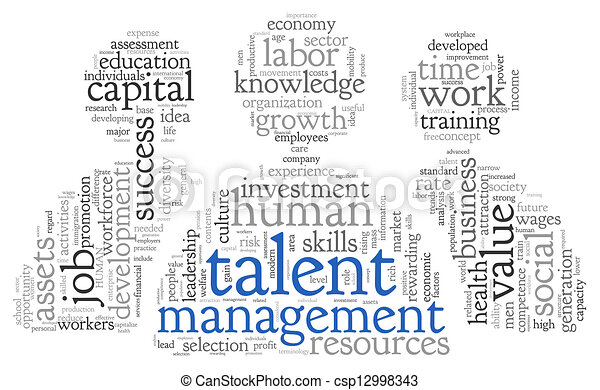 Talent management in word tag cloud - csp12998343