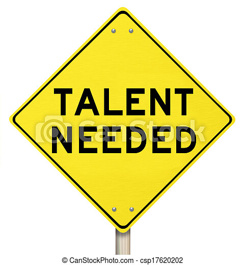 Talent Needed Yellow Road Sign Finding Skilled People Workers - csp17620202