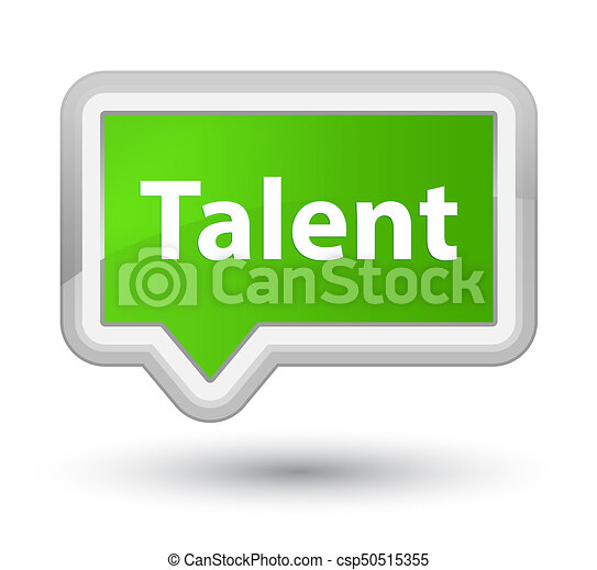 Talent prime soft green banner button - csp50515355