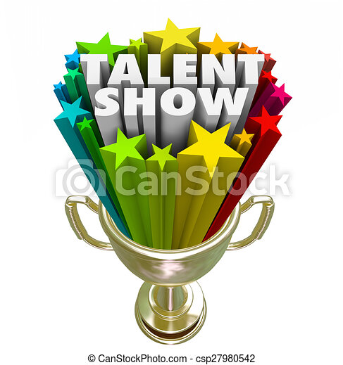 talent show trophy winner best performer contest talent show words rh canstockphoto com talent show clip art border talent show clipart free
