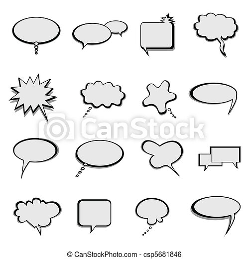 Talk and speech balloons or bubbles - csp5681846