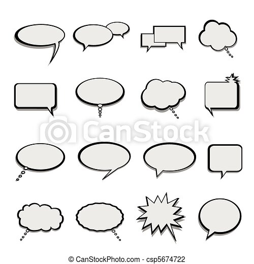 Talk and speech balloons or bubbles - csp5674722