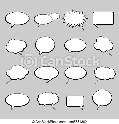Talk and speech balloons or bubbles - csp5681862