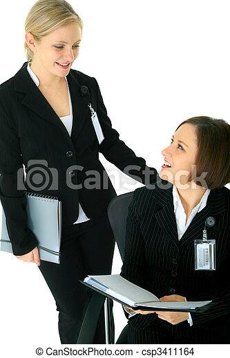 Talk Between Two Businesswoman - csp3411164