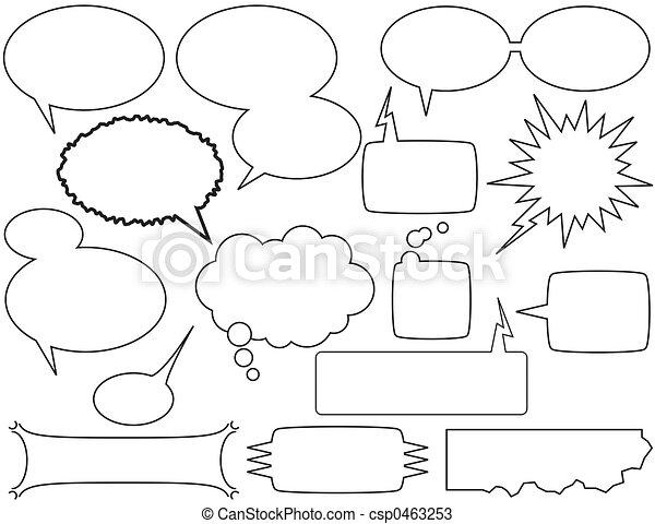 talk bubbles - csp0463253