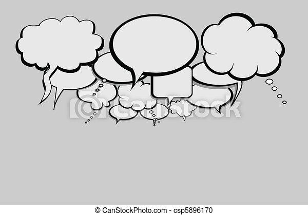 Talk bubbles for social network - csp5896170