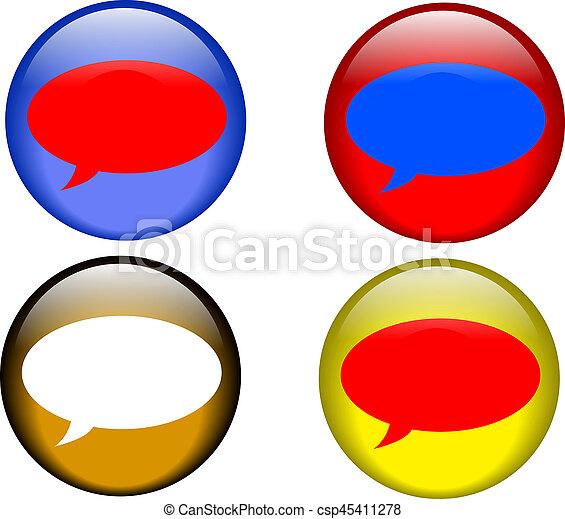 Talk Buttons - csp45411278