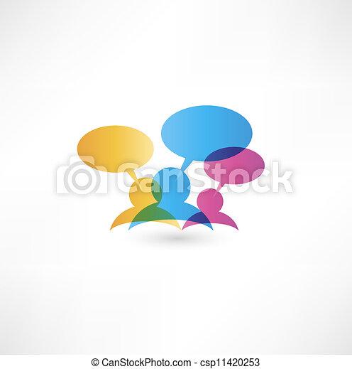 Talk concept speech bubbles - csp11420253