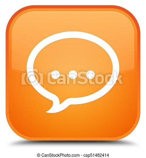 Talk icon special orange square button - csp51482414