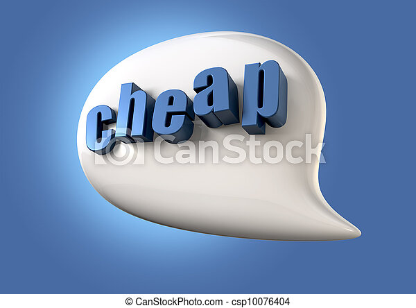 Talk Is Cheap - csp10076404