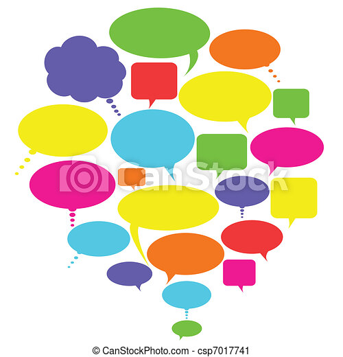 Talk, thought and speech bubbles - csp7017741