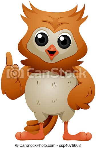 Talking Owl - csp4076603