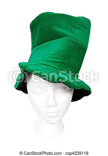 Tall green Irish hat - csp4339119