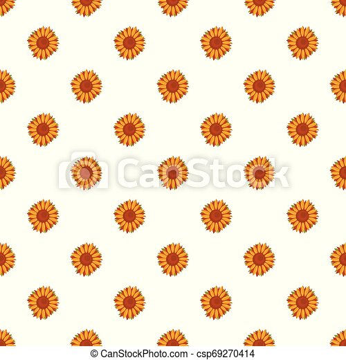 Tall sunflower pattern seamless vector - csp69270414
