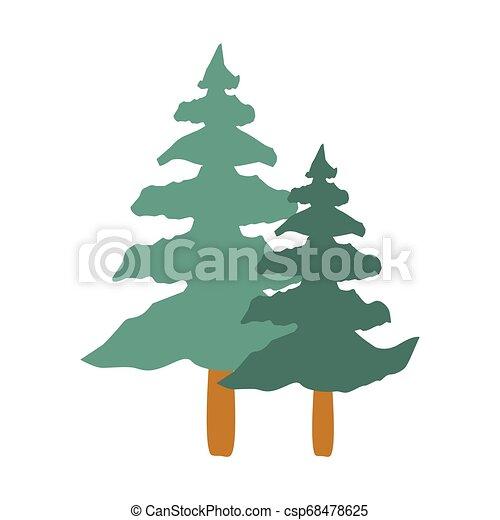 tall tree isolated icon - csp68478625