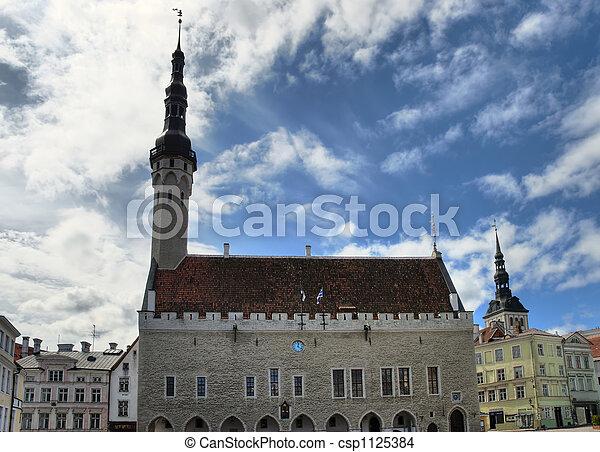 Tallinn Townhall HDR - csp1125384