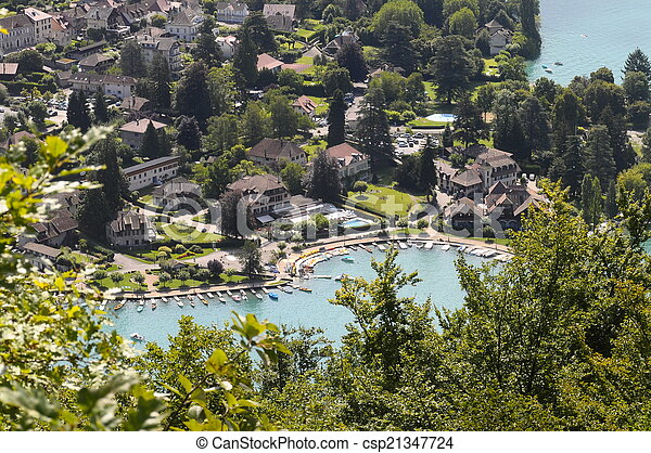 Talloires village at Annecy lake, France - csp21347724