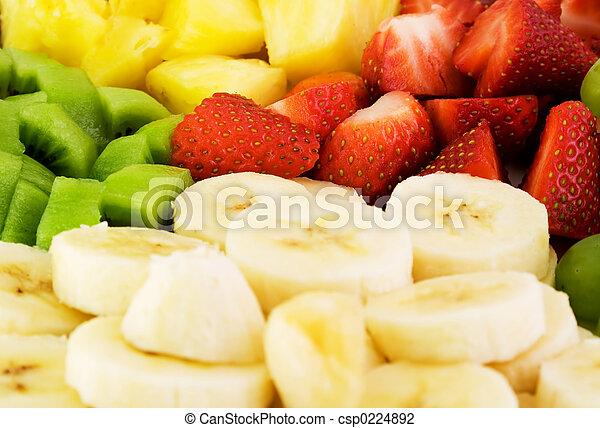 tallrik, frukt - csp0224892