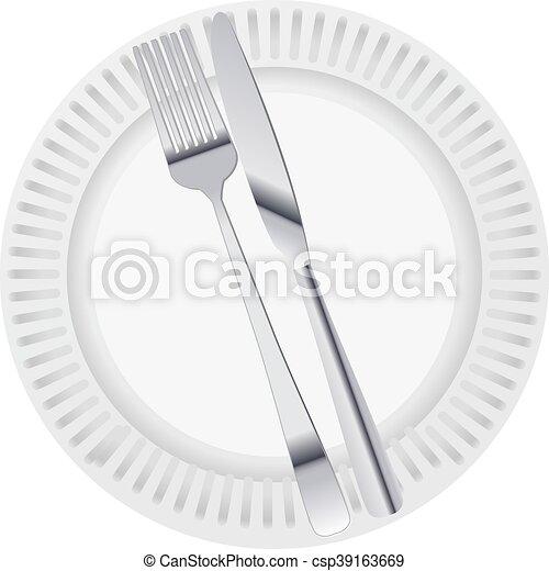 tallrik, middag - csp39163669