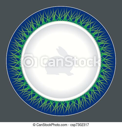 tallrik, middag, design - csp7302317
