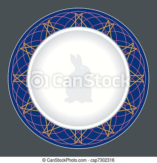 tallrik, middag, design - csp7302316