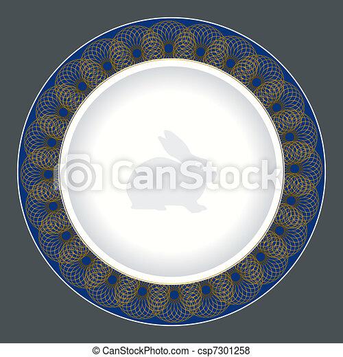 tallrik, middag, design - csp7301258