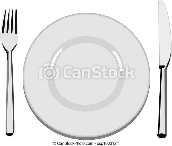 tallrik, middag - csp1603124