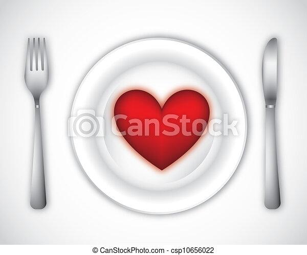 tallrik, middag - csp10656022