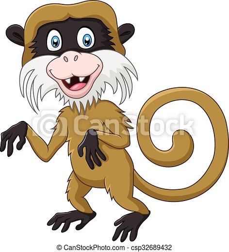 Un gracioso mono de tamarin - csp32689432