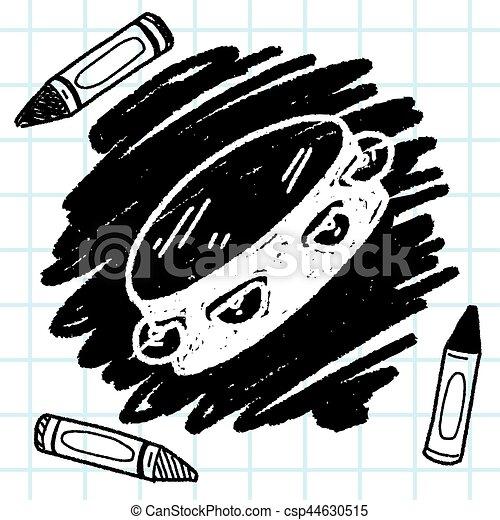 Tambourine doodle - csp44630515